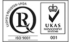 ISO9001 & UKAS Certified logo